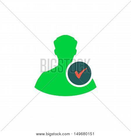 Profile Icon Vector. Flat simple color pictogram