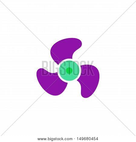 Fan Icon Vector. Flat simple color pictogram