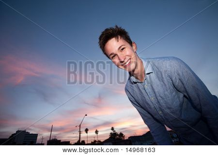 Young Man Smiles