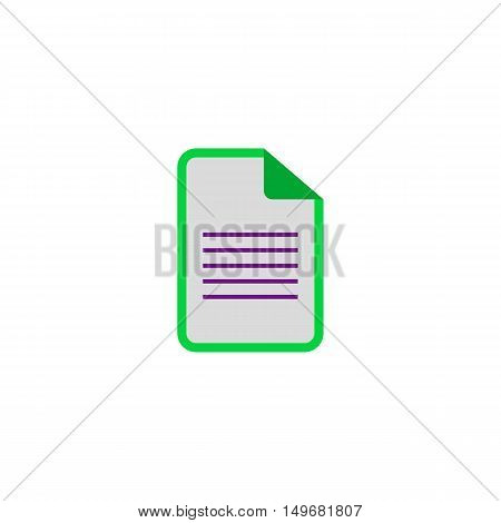 Document Icon Vector. Flat simple color pictogram