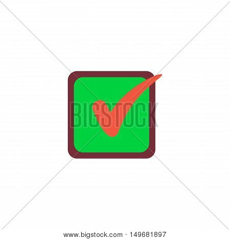 Checklist Icon Vector. Flat simple color pictogram