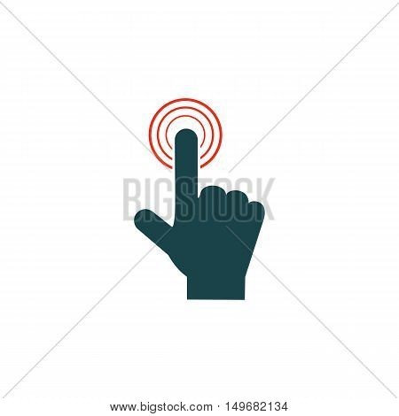 Finger touch Icon Vector. Flat simple color pictogram