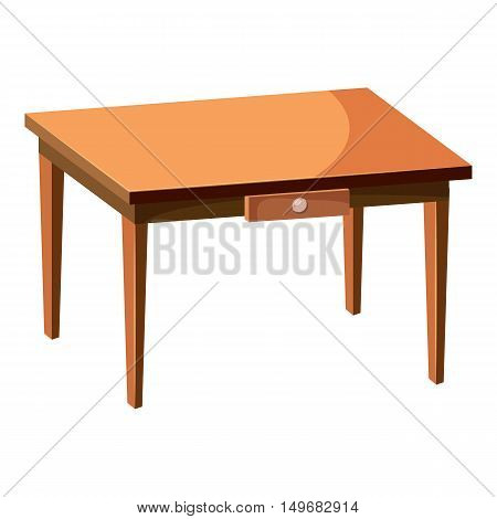 Table icon in cartoon style isolated on white background. Furniture symbol vector illustration