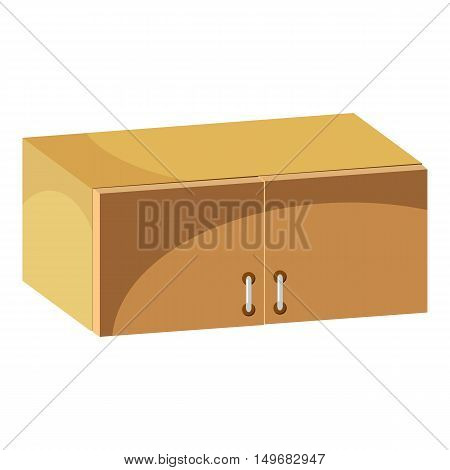 Drawer icon in cartoon style isolated on white background. Furniture symbol vector illustration