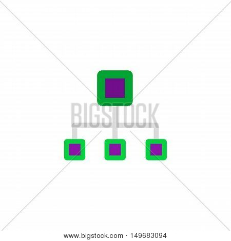 Computer network Icon Vector. Flat simple color pictogram