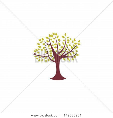 Tree Icon Vector. Flat simple color pictogram