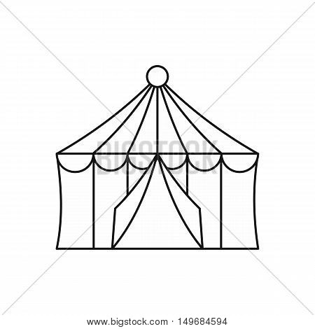 Circus tent icon in outline style isolated on white background vector illustration