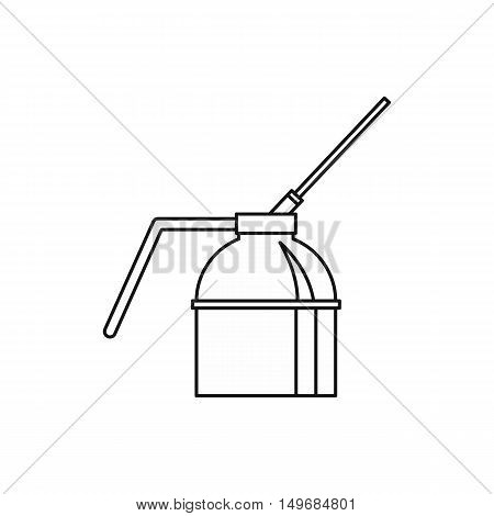 Spout oiler can applicator icon in outline style isolated on white background vector illustration
