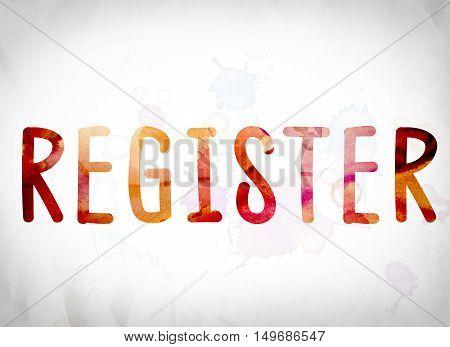 Register Concept Watercolor Word Art