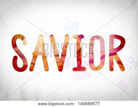 Savior Concept Watercolor Word Art