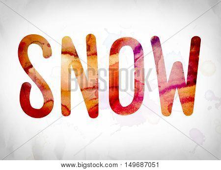 Snow Concept Watercolor Word Art