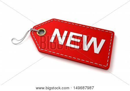 new shopping tag concept 3d illustration isolated on white background