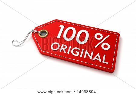 original shopping tag concept 3d illustration isolated on white background