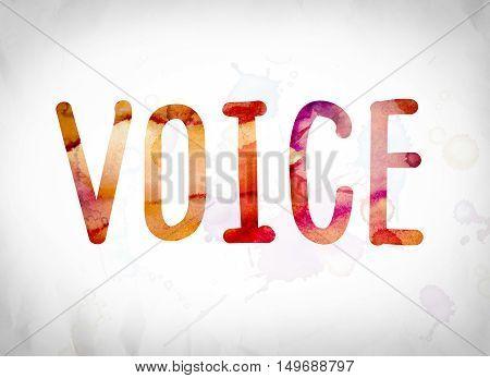 Voice Concept Watercolor Word Art