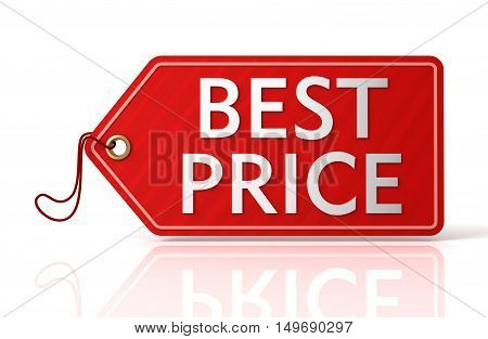 best price shopping tag concept 3d illustration isolated on white background