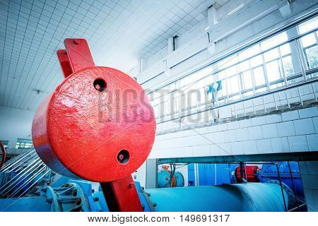 Water pipe in a sewage treatment plant