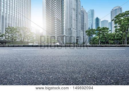 Shanghai, China, the landmark of modern urban landscape architecture