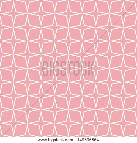 Seamless Star Pattern. Seamless pattern with stars. Vector illustration. All in a single layer. Seamless pink star pattern.