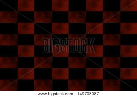 Illustration of an abstract red and black chessboard
