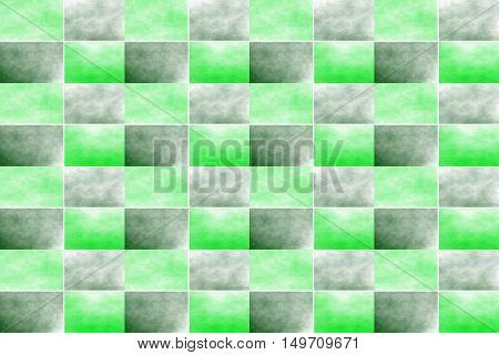 Illustration of an abstract dark green and green chessboard