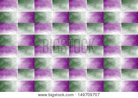 Illustration of an abstract purple and dark green chessboard