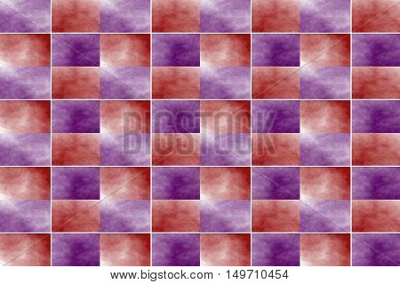 Illustration of an abstract red and purple chessboard