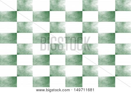 Illustration of an abstract dark green and white chessboard