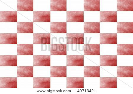Illustration of an abstract red and white chessboard