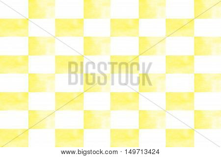 Illustration of an abstract yellow and white chessboard