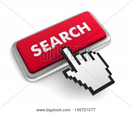 search 3d illustration isolated on white background
