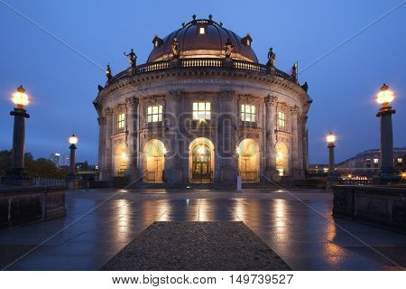 Berlin Germany - Bode Museum at dusk