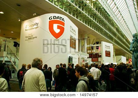 Hannover, Germany - March 5: Stand Of G-data On March 5, 2011 In Cebit Computer Expo, Hannover, Germ