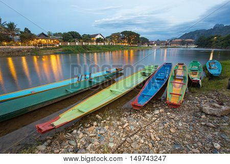 Vang Vieng is a tourism-oriented town in Laos, located in Vientiane Province about four hours bus ride north of the capital.