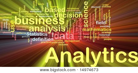 Background concept illustration of analytics business analysis glowing light effect