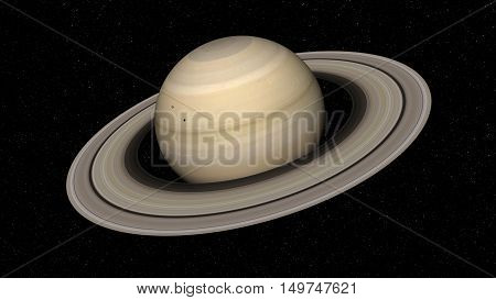 3d rendering of the planet Saturn. Elements of this image furnished by NASA