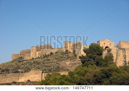 The remains of old castel in Sagunto town eastern Spain