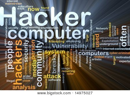 Background concept illustration of computer hacker attack glowing light effect