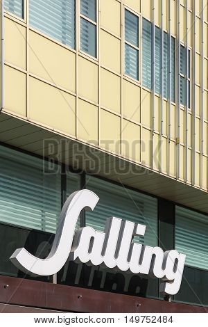 Aarhus, Denmark - September 25, 2016: Salling is a Danish retail chain that operates two department stores located in the Danish cities of Aarhus and Aalborg