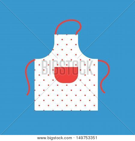 The apron with red pocket for housework