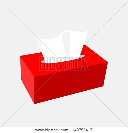 napkin box full red isolated vector illustration