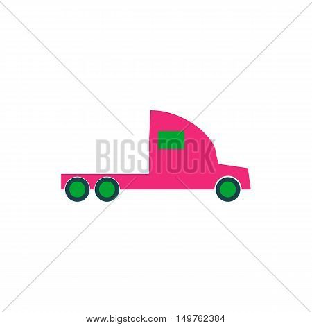 Truck Icon Vector. Flat simple color pictogram