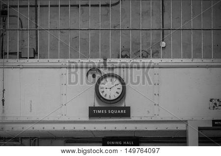 Alcatraz Island: The Clock On The Wall