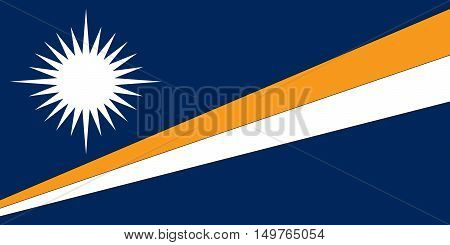 Illustration of the flag of The Marshall Islands