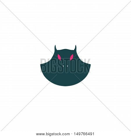 Evil Icon Vector. Flat simple color pictogram