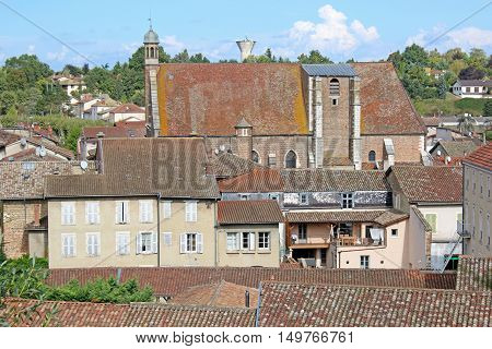 church and village of Chatillon-sur-Chalaronne in France