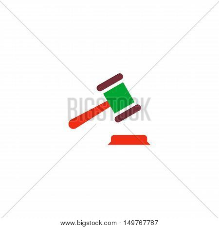 Law Icon Vector. Flat simple color pictogram