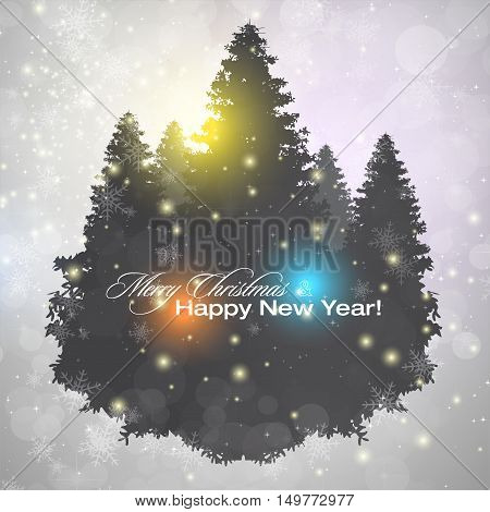 Elegant shiny Christmas background with place for text. Vector Illustration.