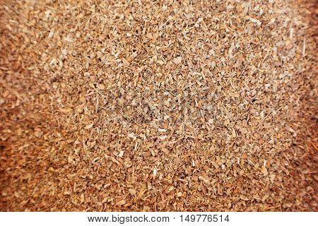 Dried basil spice for background or texture use. Health food concept.