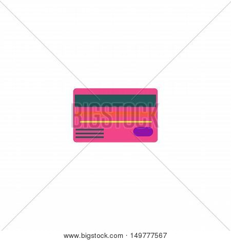 Bank card Icon Vector. Flat simple color pictogram