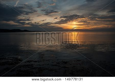 cloudscape and sunset on the Gulf of St Lawrence in Cape-ChatGaspe PeninsulaQuebec